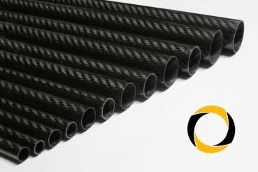 Carbon Rohr Eco glänzend 25x1,5x1000mm